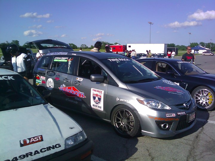One Of The Cars Competing In This Year S Lap America Event Is A Mazda5 Ed With An Engine Drivetrain From Totaled 2008 Mazdasd3
