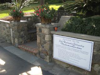 Meditation Gardens at Self-Realization Fellowship in Encinitas, CA.