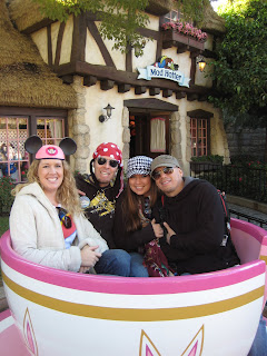Outside the Mad Hatter in a Teacup