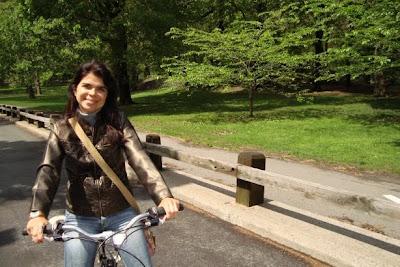 pedalando no Central Park