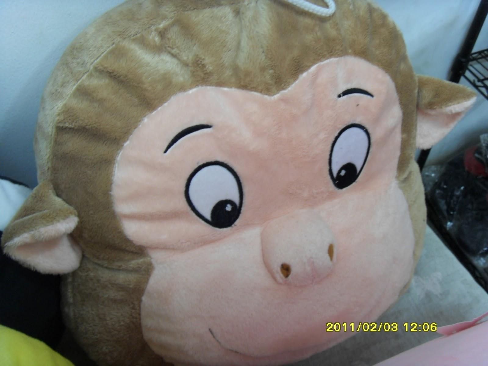 PURI BONEKA Aneka Boneka Bantal Berbentuk Kepala Binatang Yg Lucu