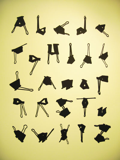 Letter Made Out Of Objects.Design Context Typography