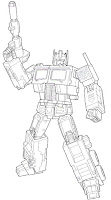 Optimus Prime line art