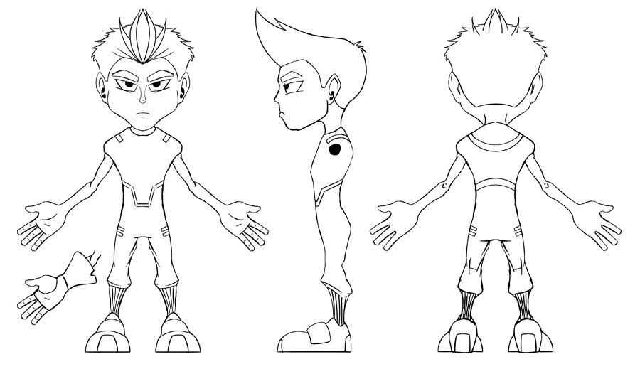 Mike Newman Character Sheet Turnaround Newmans Animated - reference sheet examples