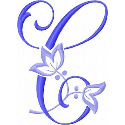 Alfabeto Con Flor De Lis Bordada Oh My Alfabetos