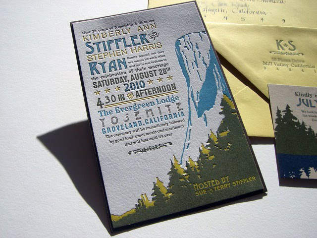 Yosemite Wedding Invitations: Olive-Route: Design + Print: Yosemite Wedding