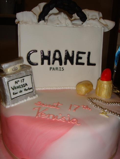 This Cake Is Made For A Girl Who Turns 17th Chocolate And Vanilla