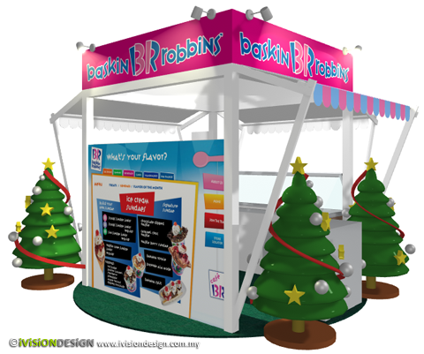 Exhibition Booth Design | Baskin Robbins Christmas 2010 - back view