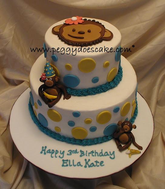 Peggy Cake. Ella Kate' Mod Monkey Cake Click