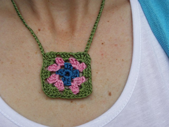 Granny square necklace...