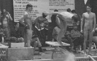 caught nude swimming