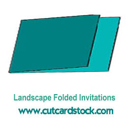 New Item: LANDSCAPE Folded Invitations