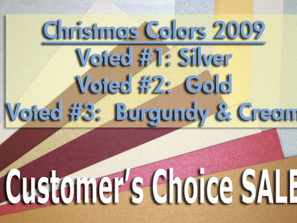 THE VOTES ARE IN for CHRISTMAS 2009 Cardstock Colors