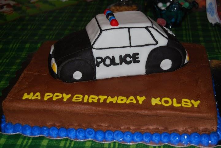 Saving Doug S Sanity Kolby S Police Car Cake