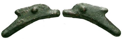 moneda de Olbia con forma de delfín