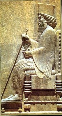 Relieve del emperador persa Darío