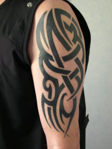 tribal arm tattoo design