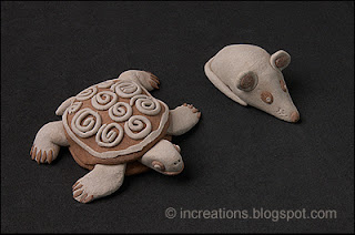 Clay turtle and mouse