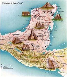 Mapa de la zona de arqueolog?a maya