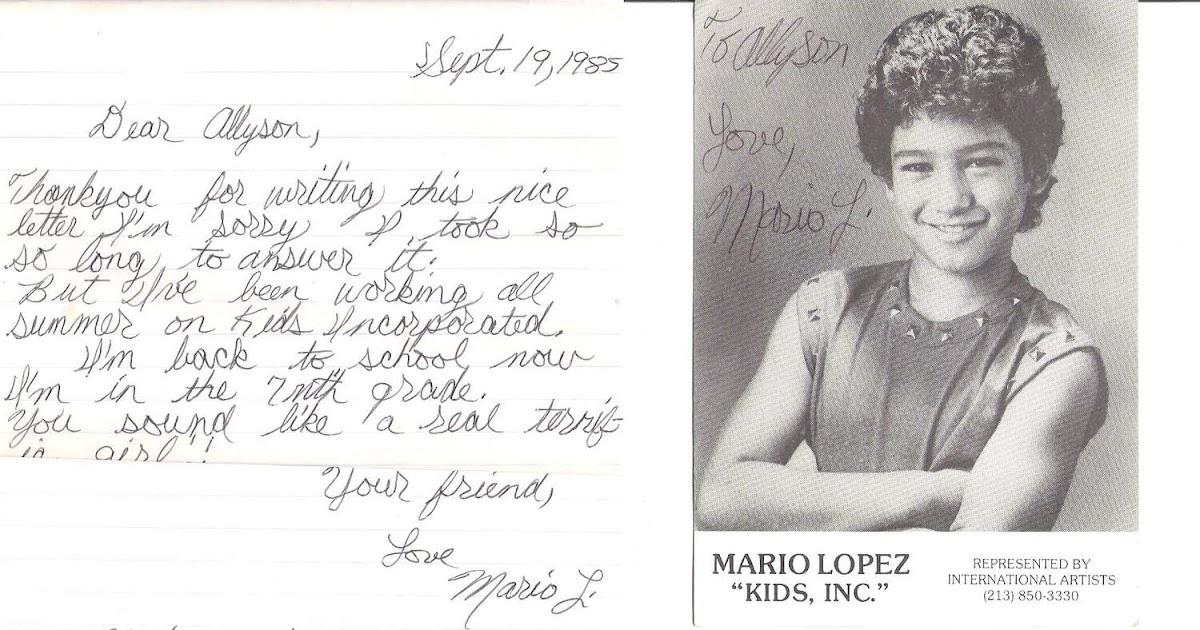 Fourth Grade Nothing Mario Lopez Thinks I M Terrific