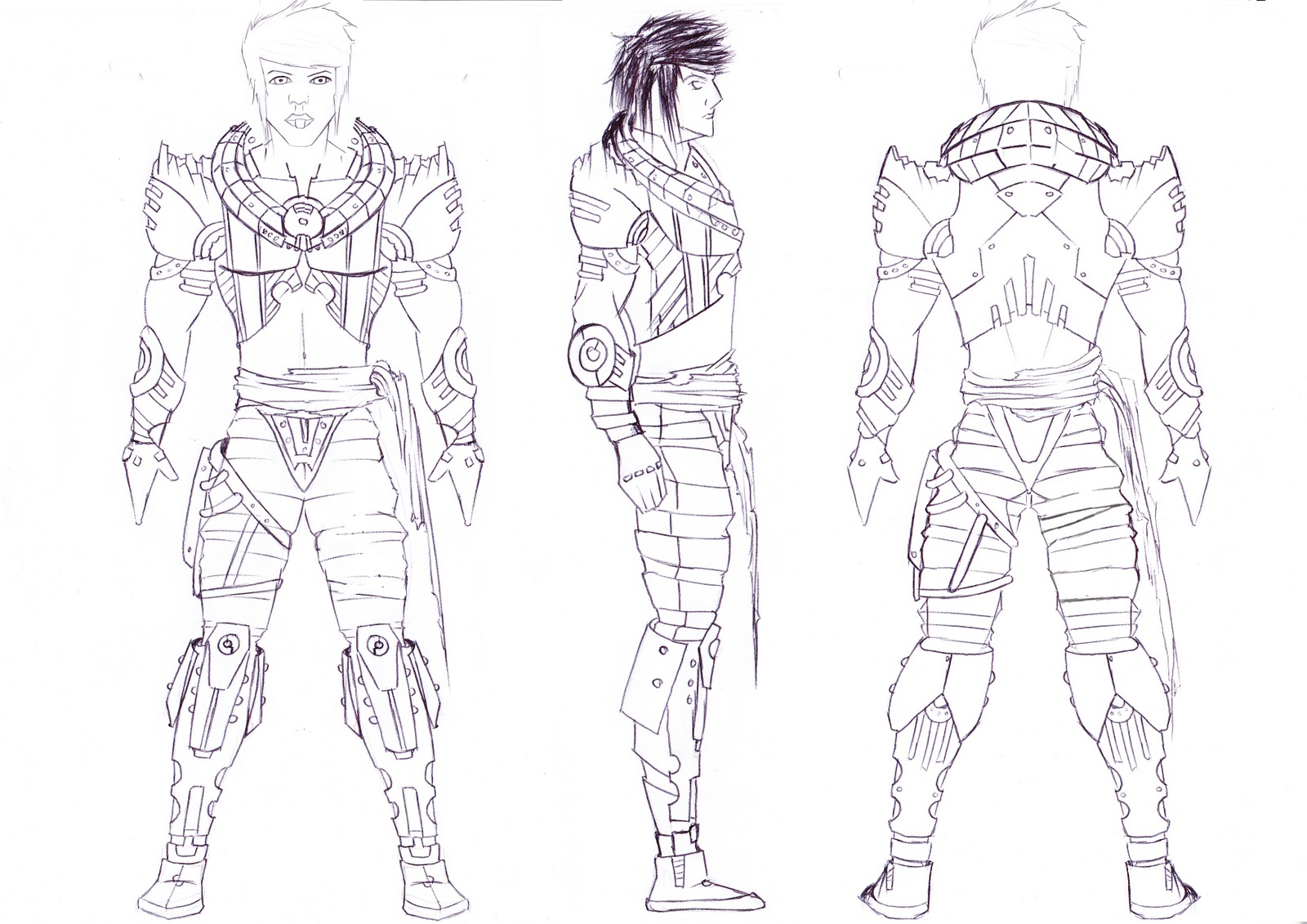 Alpha Omega Character Design Nova Electus Samurai Hero