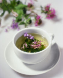 Enjoy a cup of herbal tea