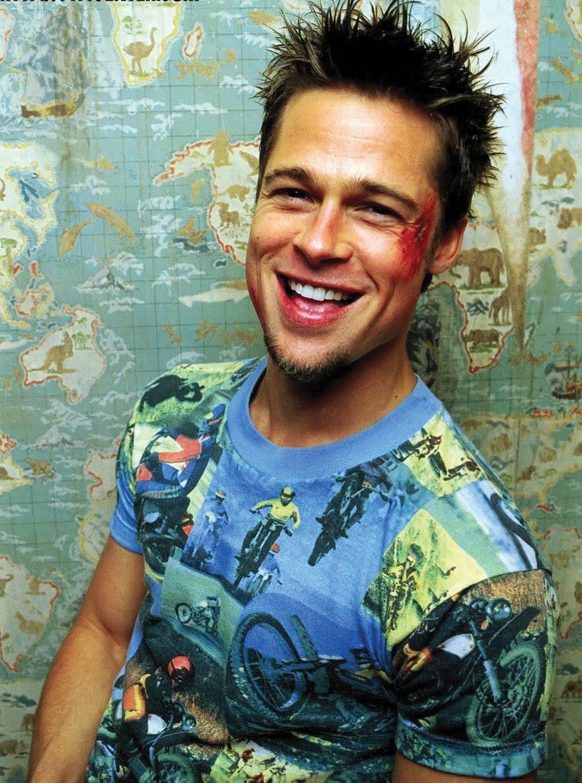 968aa2e0186e9 Brad Pitt Motorcycle T Shirt Fight Club