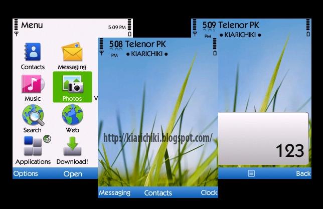 Kiarichiki Themes: Nokia Theme White For S60v3