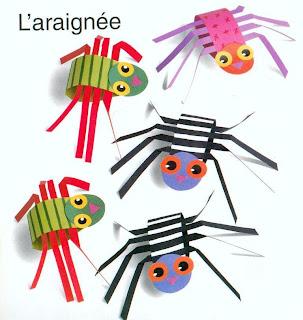 illlluminart petits travaux manuels pour les enfants les araign es. Black Bedroom Furniture Sets. Home Design Ideas