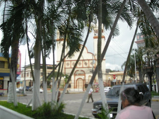 View of the church from Parque Central, La Ceiba, Honduras