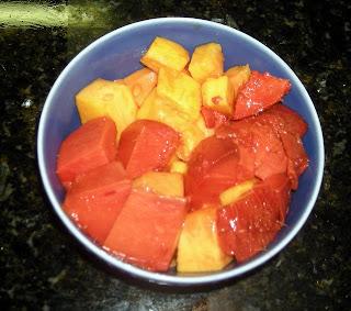 sapote and papaya tropical fruits