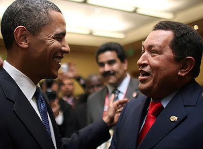 hugo chavez barack obama encuentro saludo
