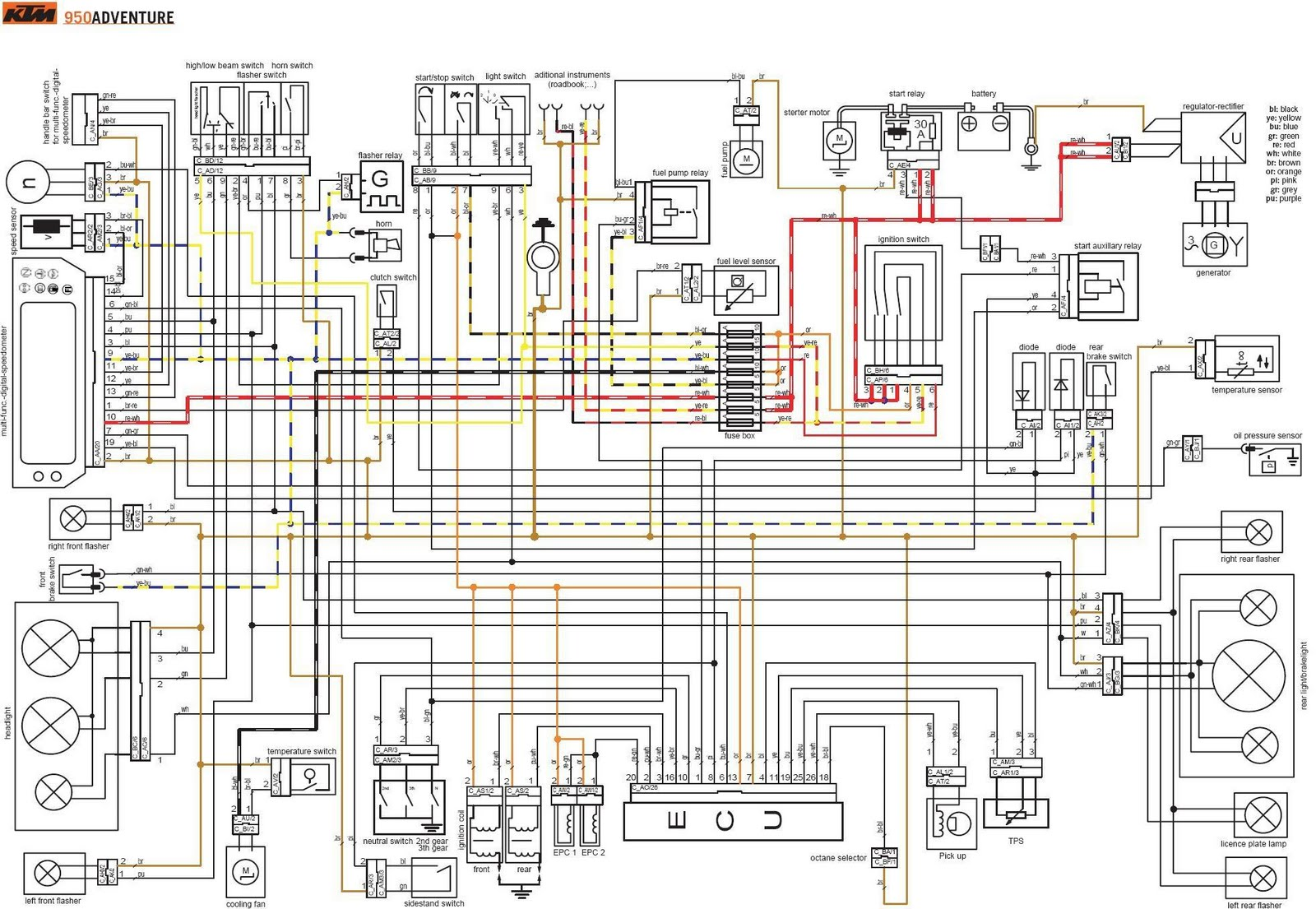 ktm duke 125 wiring diagram power relay piaggio zip 50 2t 32