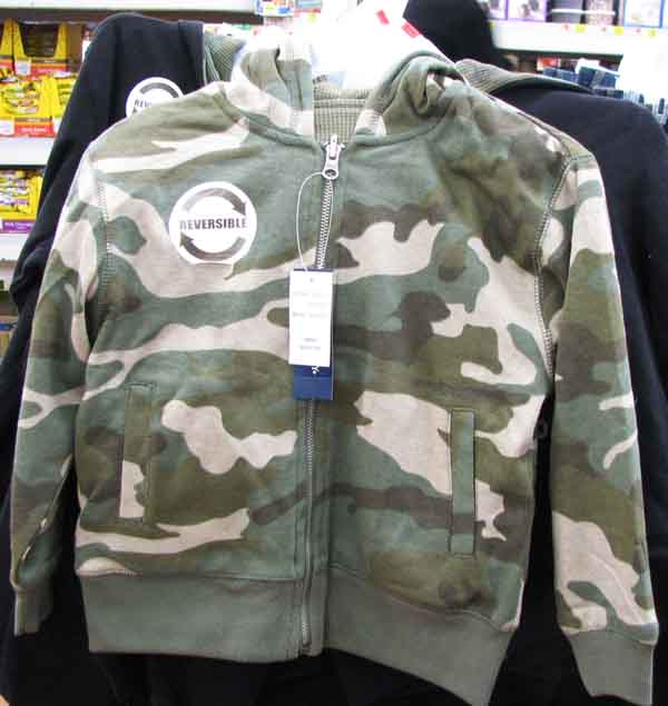 b8b7dbfaab8ff So I made a point of photographing a batch of camo clothing when I was last  at the WalMart. A hoodie (above) and cargo pants (below) for a boy child.
