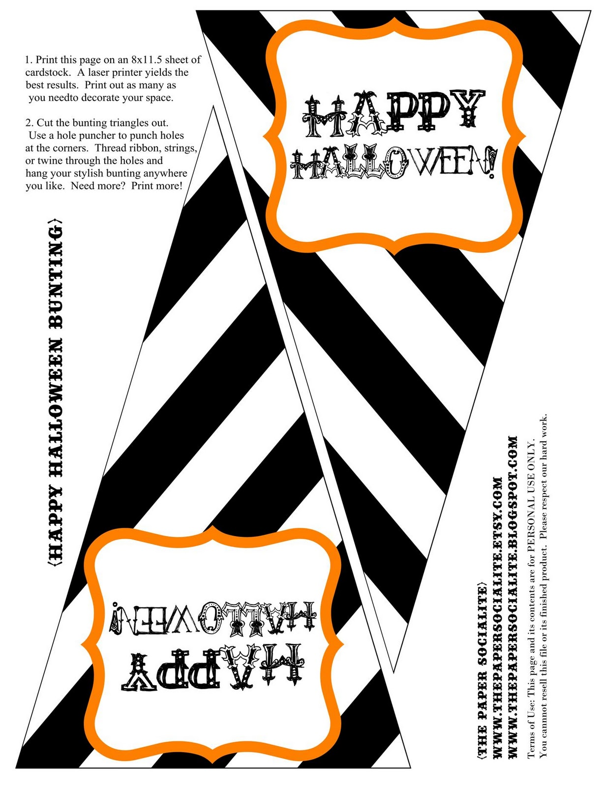 33 FUN and FREE Halloween Printables – Tip Junkie |Halloween Decorations Printable