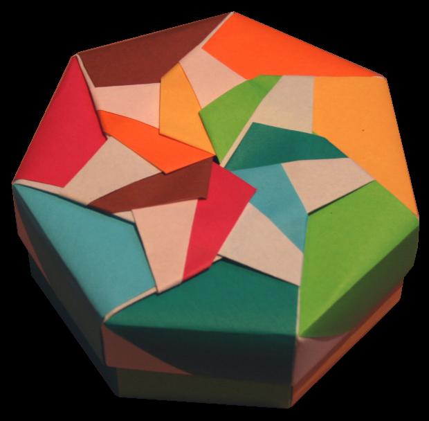 lets make origami heptagonal origami box folding. Black Bedroom Furniture Sets. Home Design Ideas