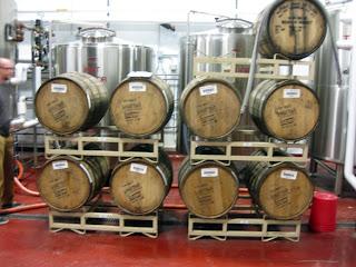 Mayflower Brewing Barrels