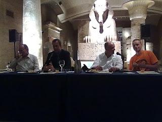 The men of Cantillon, Boon, and Drie Fonteinen, plus Dan Shelton