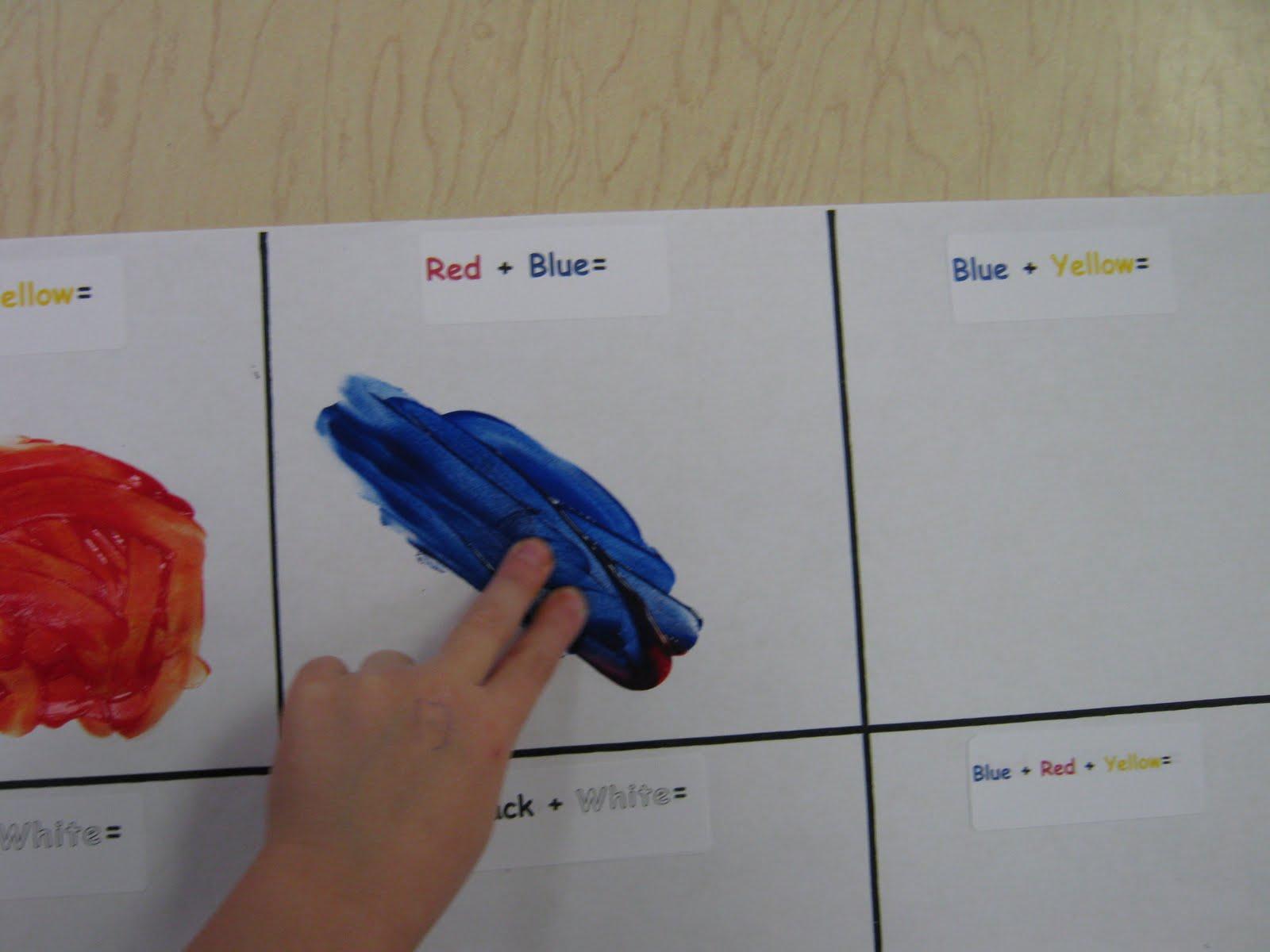 Pre K A Color Mixing Activity