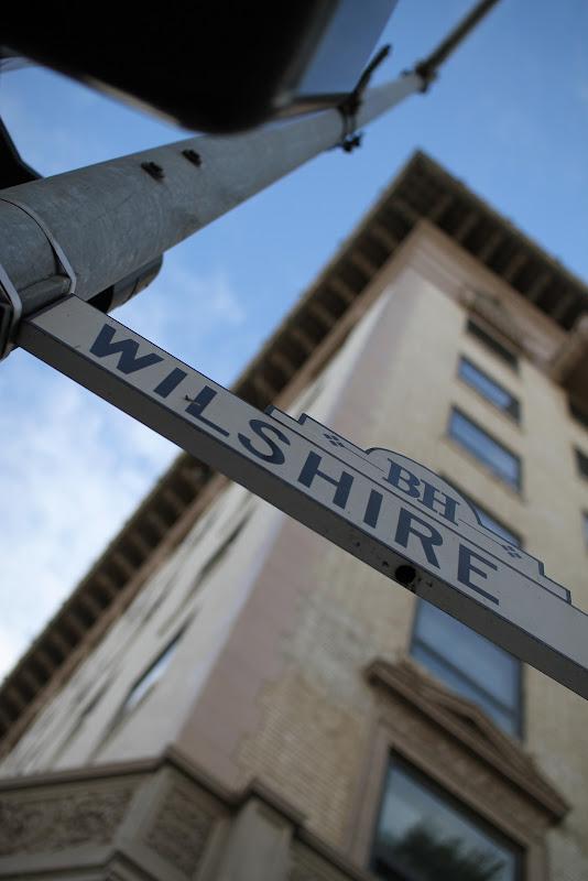 246 365 Wilshire Boulevard Street Sign Beverly Hills