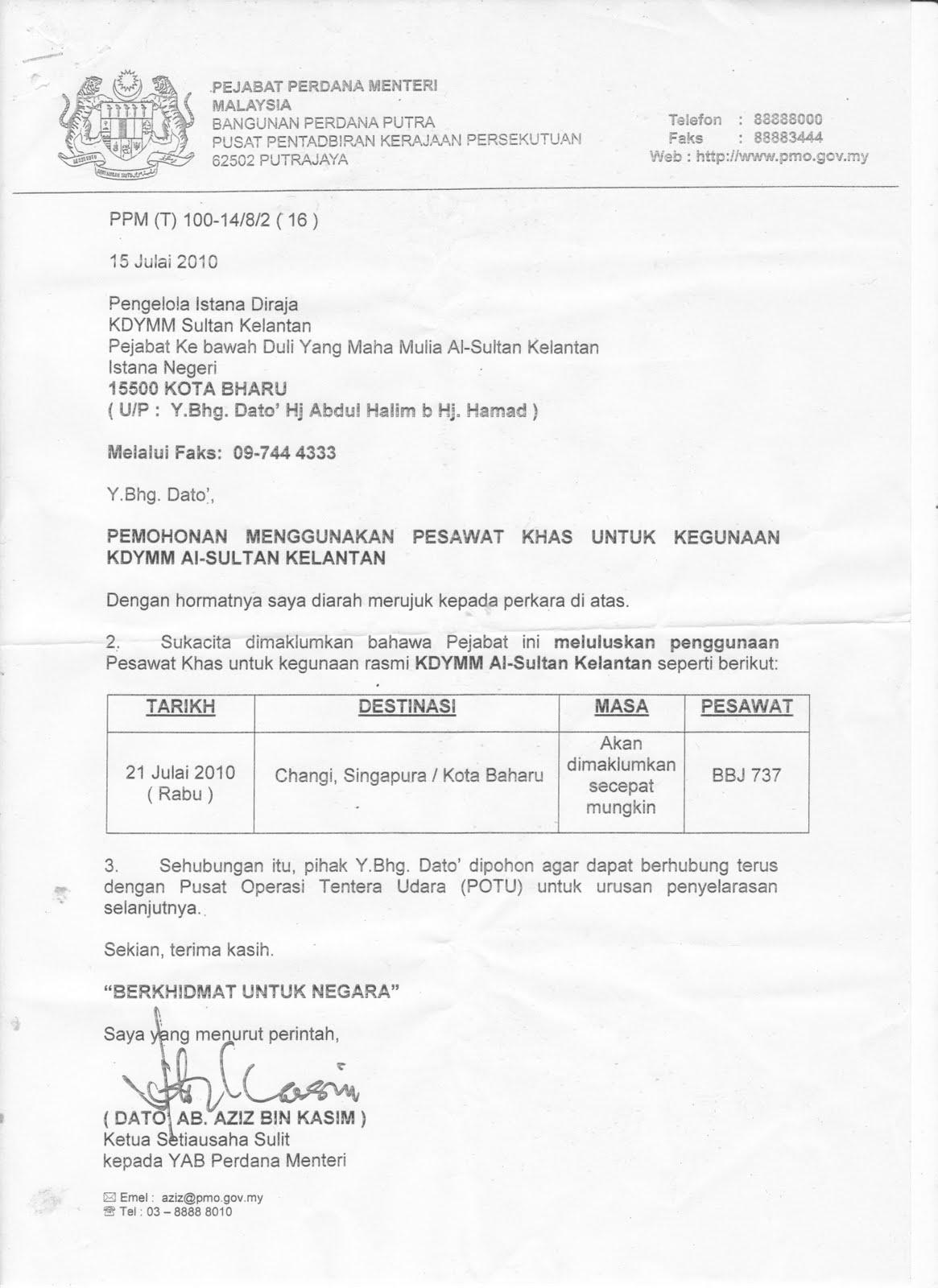 contoh surat rasmi kepada sultan brunei rasmi w