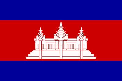 gambar bendera negara kamboja