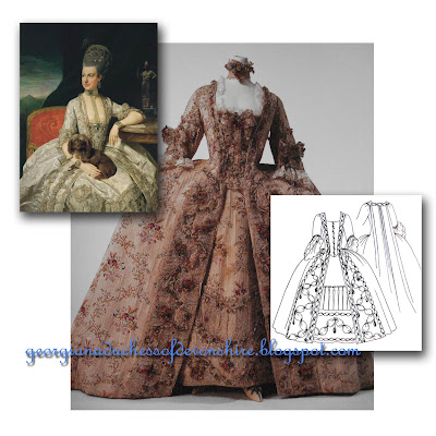 the duchess of devonshire s gossip guide to the th century late  french flair the robe a la francaise is what we tend to think of when we think of an 18th century gown perhaps the image of madame de pompadour in a