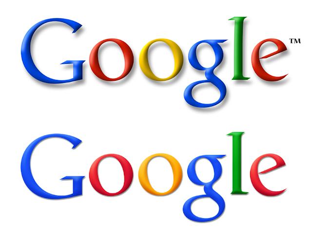 Google-Logo | Vorher (oben) und Nachher (unten)