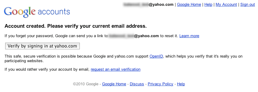 Official Google Blog: Simpler sign-ups for Yahoo! users with OpenID