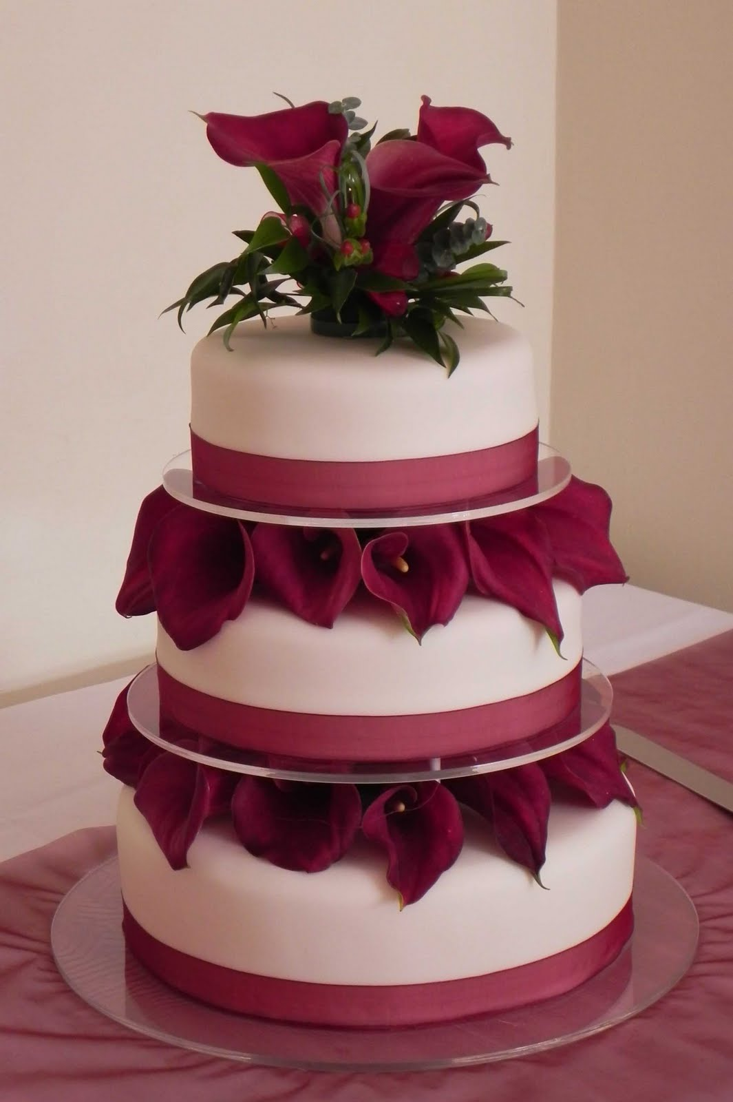 Tier Wedding Cakes With Calla Lilies
