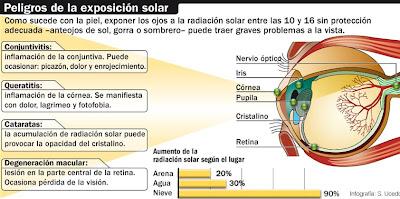 Los rayos UV también dañan diversos componentes del ojo humano. Pueden  provocar desde leves inflamaciones de la córnea hasta cataratas 3ffb6378d5e5b