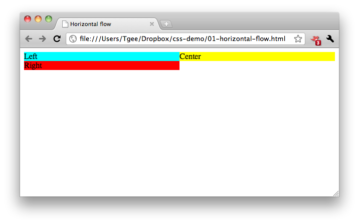 CSS for Developers: Horizontal Layout Using CSS