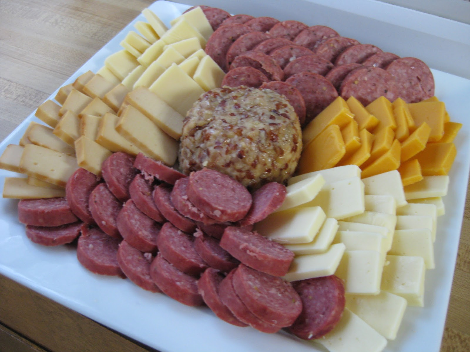 On each remaining side when two of the cheeses. I served the cranberry mustard and spicy mustard on the side along with water crackers. & Holiday Meat and Cheese Platter - Chow Bella Paleo