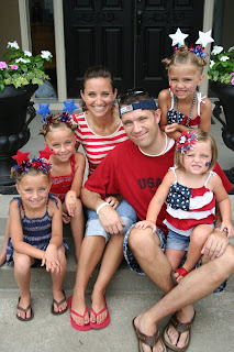 Mcknight Family Photo on the 4th of July before Daxton's adoption
